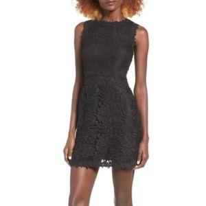Devlin Ash Black Lace Shift dress LBD